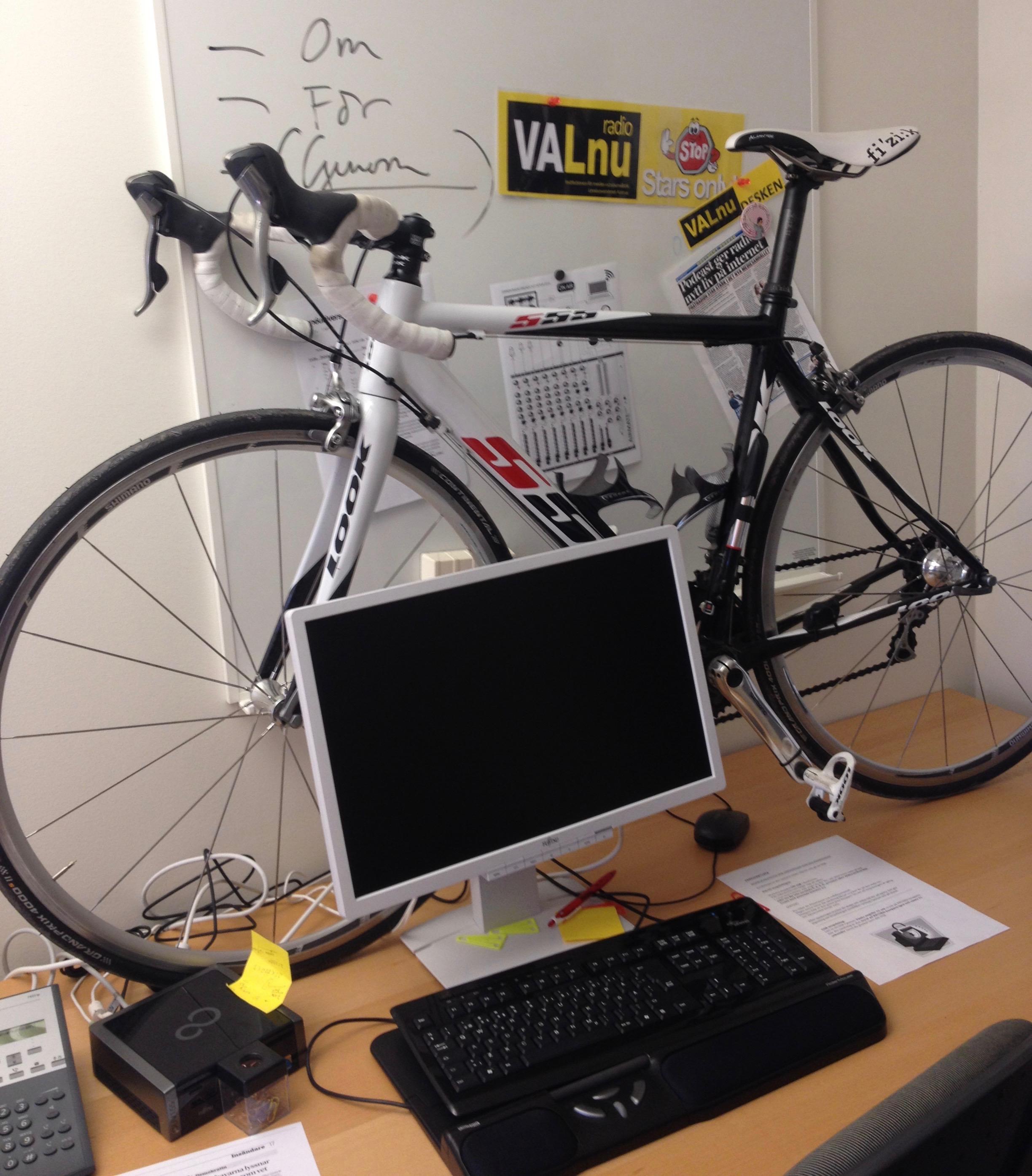 Cykel på skrivbord